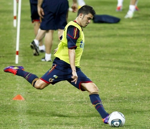 David villa Spanish National Team Training
