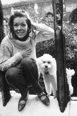 Diana & her poodle