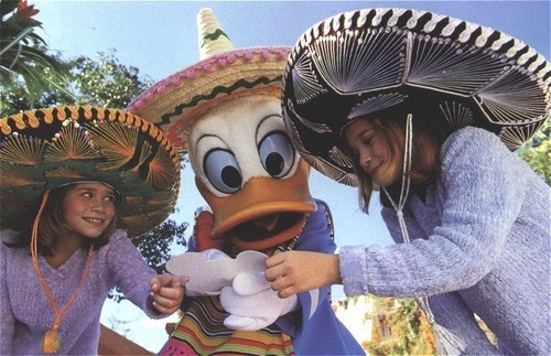 Mary-Kate & Ashley Olsen wallpaper with a sombrero, a snap brim hat, and a campaign hat called Disney World Adventures