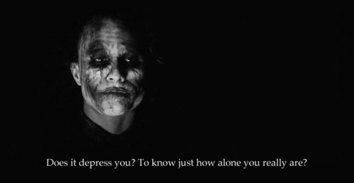 Does it depress you?