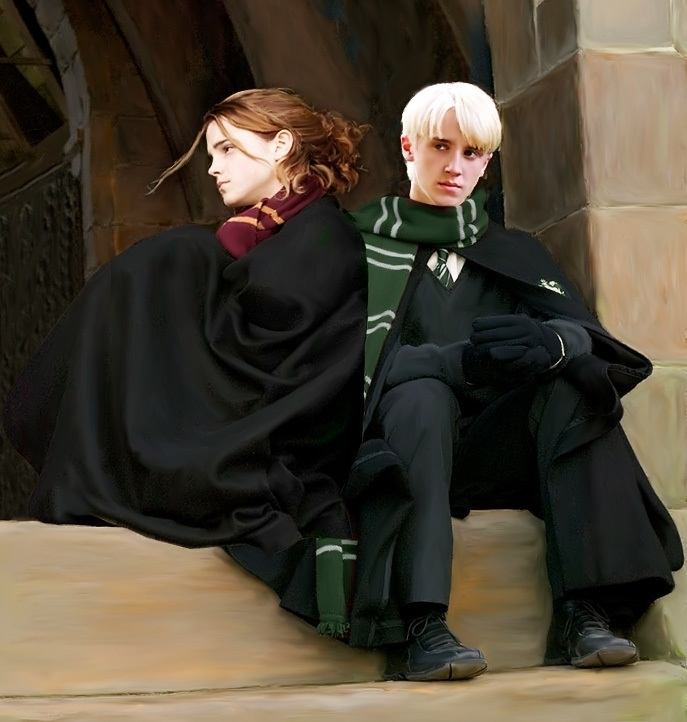 harry potter draco and hermione