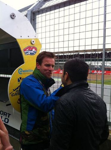 Ewan McGregor at the MotoGP race round 6 on 12th June 2011