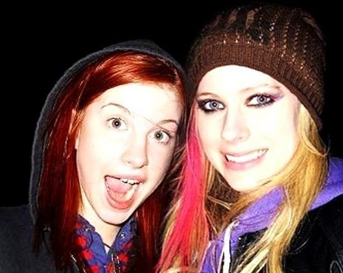 Hayley Williams fond d'écran with a portrait called Hayley & Avril