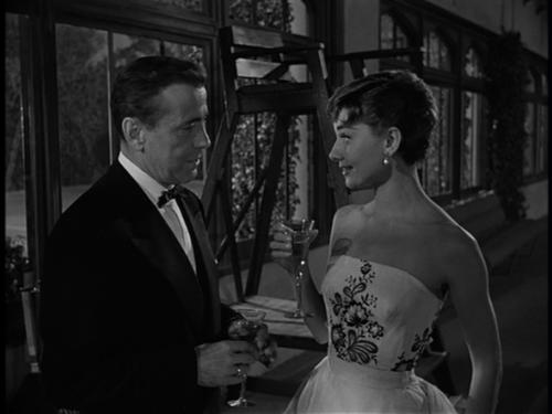 Humphrey Bogart with Audrey Hepburn, william holden, Sabrina 1954