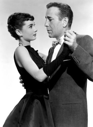 Humphrey Bogart with Audrey Hepburn, william holden, Sabrina 1954