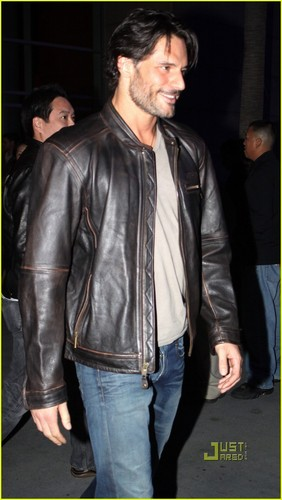 Joe Manganiello wallpaper probably with a business suit, a hip boot, and a well dressed person titled January o9: Leaving Lakers Game