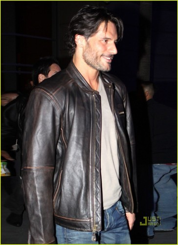 Joe Manganiello wallpaper probably with a hip boot, a business suit, and a well dressed person called January o9: Leaving Lakers Game