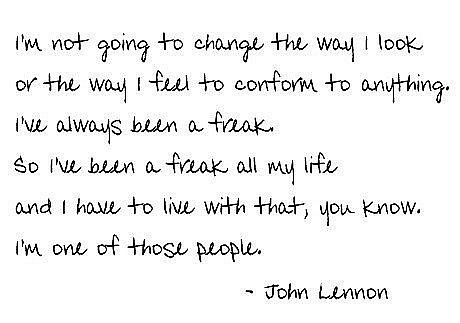 Quotes wallpaper entitled John Lennon quote
