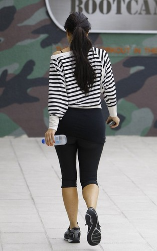 Kim Kardashian at the gym in Studio City (June 12).