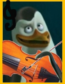 Kowalski playing hte Violin