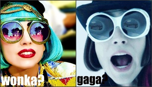 Lady Gaga fond d'écran with sunglasses entitled Lady Gaga/Willy Wonka