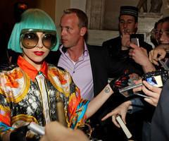 Lady Gaga w/ Blue Hair