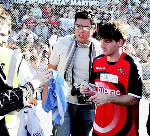 Lionel Messi at a charity match (June 12 2011)