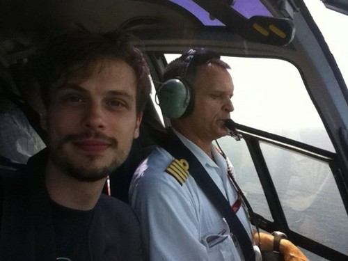 MGG in a helicopter