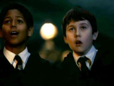 Neville Longbottom and Dean Thomas
