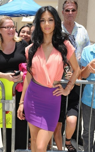 "Nicole Scherzinger arrived at the Miami ""X Factor"" auditions held at the universiteit of Miami"