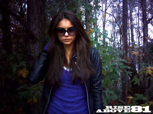 Nina Dobrev wallpaper possibly with sunglasses, a box coat, and a mahogany called Nina ღ
