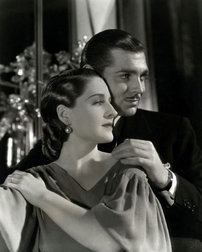 Norma Shearer with clark gable