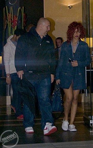 রিহানা and পাতিহাঁস heading to Buonanotte Restaurant in Montreal - June 12, 2011