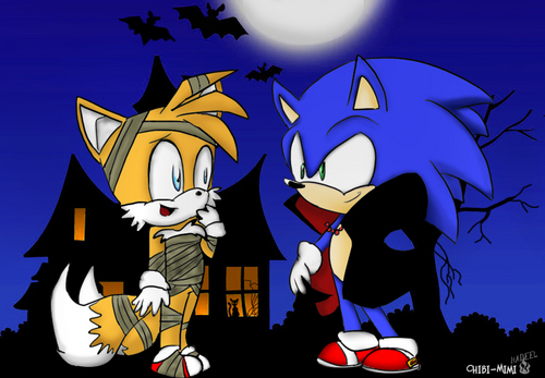 Sonic's World wolpeyper possibly with anime entitled Sonic Halloween
