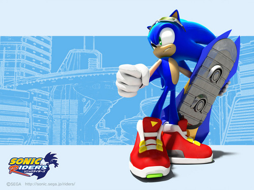 Sonic's World achtergrond entitled Sonic Riders