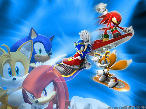 Sonic's World wallpaper entitled Sonic Riders