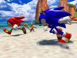 Sonic's World achtergrond with a triceratops called Sonic Team.