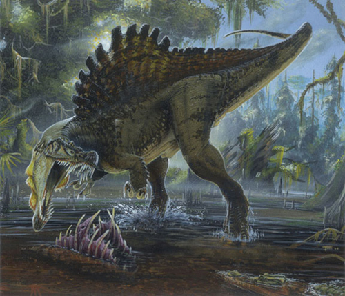 Dinosaurs wallpaper containing a triceratops entitled Spinosaurus