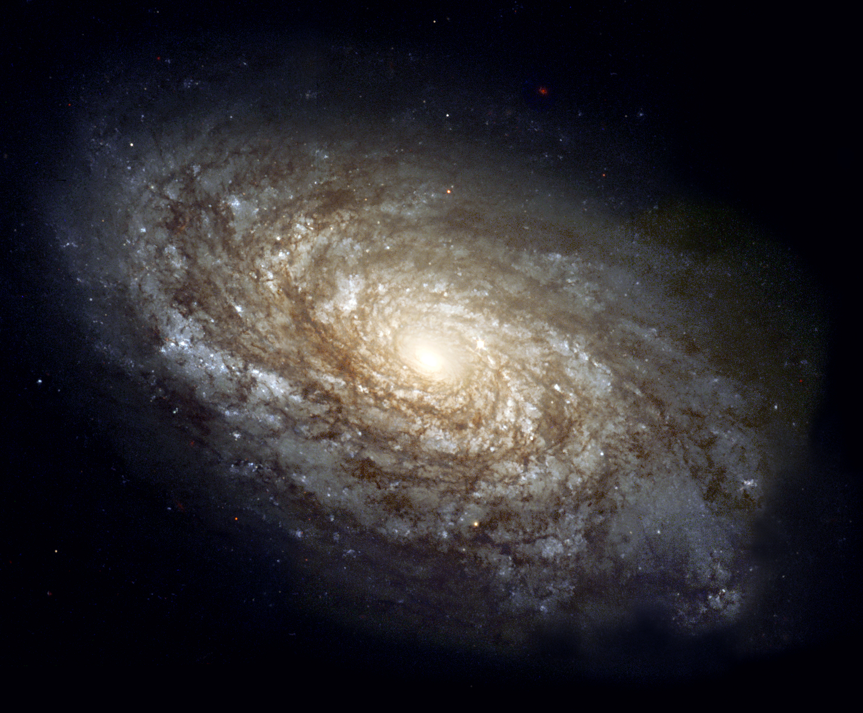Spiral Galaxy NGC 4414 - The Hubble Telescope Photo ...