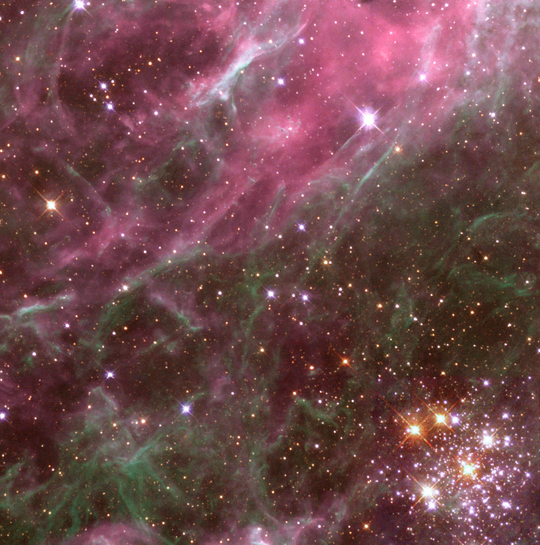 The hubble telescope images tarantula nebula hd wallpaper for When was space made
