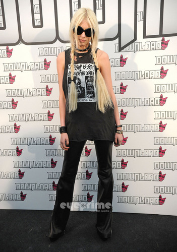 Taylor Momsen attends the 2011 Download Festival in the UK