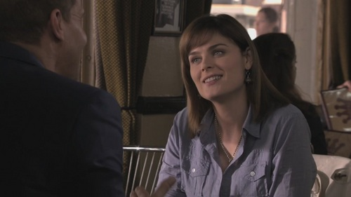 Temperance Brennan karatasi la kupamba ukuta with a business suit titled Temperance Brennan - 6x02 - The Couple in the Cave