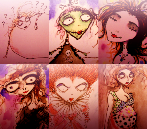 Tim's drawings of Helena - helena-bonham-carter-tim-burton Photo