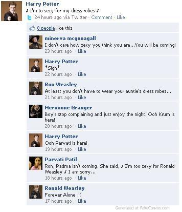 Twilight and Harry Potter 脸谱 Conversations!