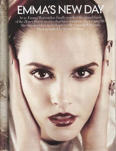 emma watson vogue 2011 us. Vogue,July 2011
