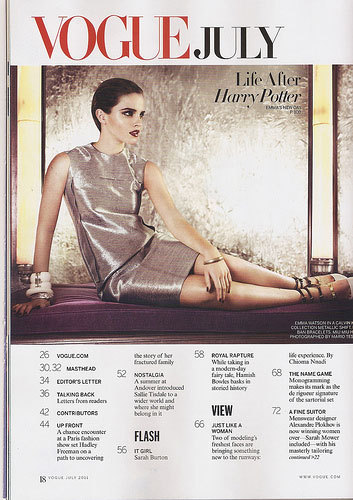 emma watson vogue 2011 photoshoot. Vogue,July 2011