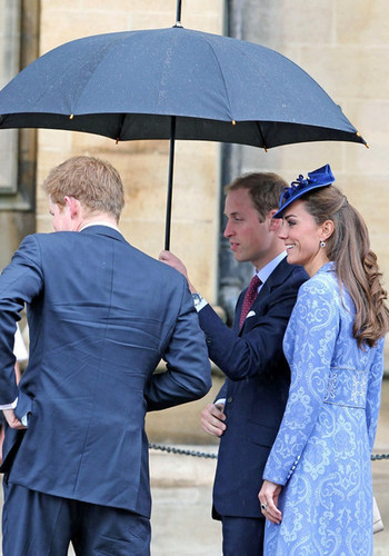 Will and Kate attend church