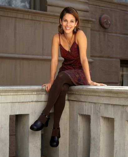 Amy Jo Johnson achtergrond probably with bare legs, tights, and a hip boot titled amy jo johnson