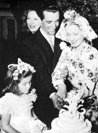 at her wedding to Martin Arrouge, 1942