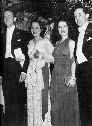 in 1936 with David Niven and Merle Oberon