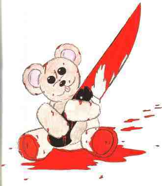 killer teddy bear!