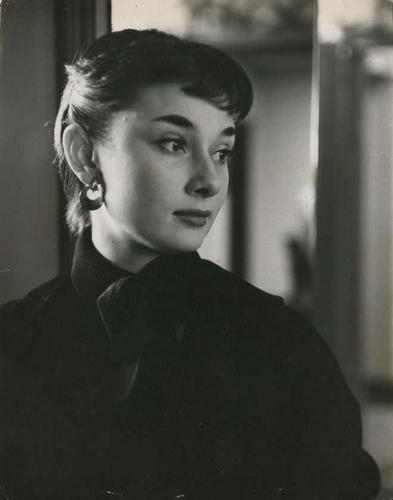 Audrey Hepburn wallpaper probably with a business suit and a portrait entitled meditative