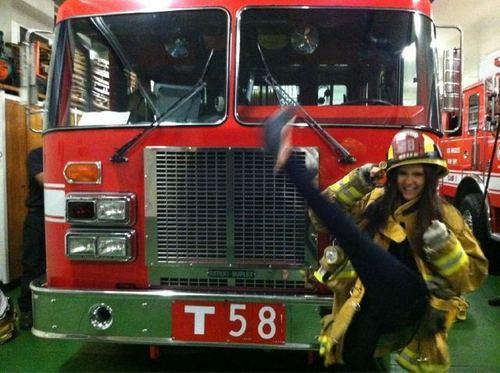 nina and firetruck