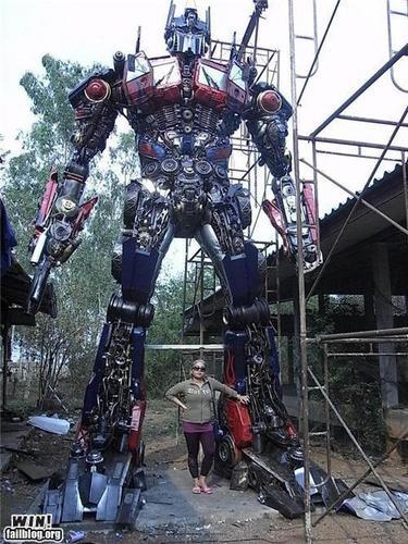 transformer scuplture 18 ft