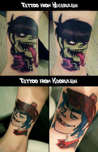 2D & Murdoc mga tattoo