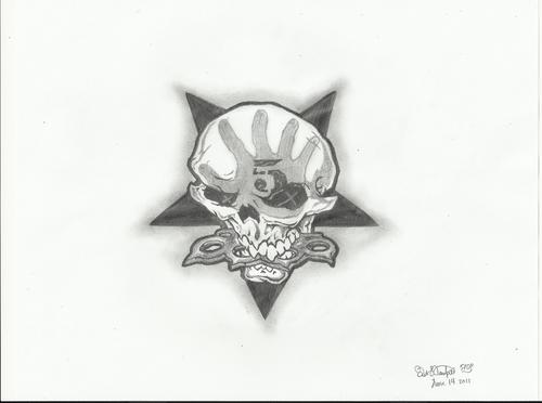 Five Finger Death punch, punzone wallpaper with a fleur de lis called 5FDP detailed