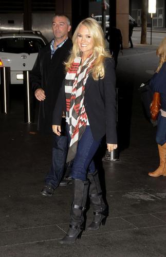 6/15/11 - Arriving at ABC Studios in Australia