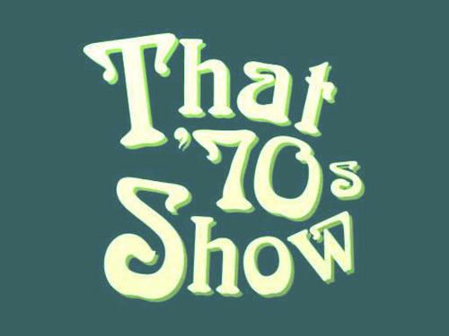 70's Logo Blue