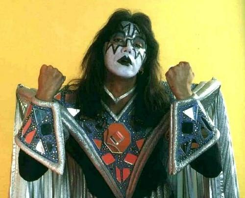 KISS wallpaper probably containing a breastplate, a surcoat, and a tabard called Ace Frehley