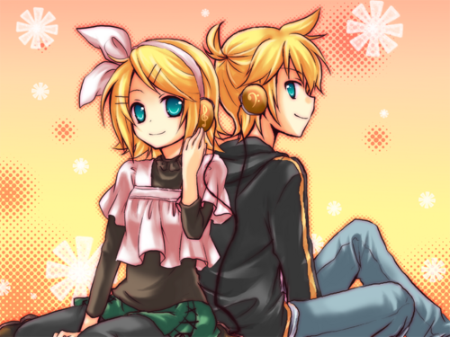 Rin und Len Kagamine Hintergrund with Anime entitled Adolescence